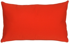 Sunbrella Logo Red 12x20 Outdoor Pillow