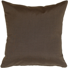 Sunbrella Coal Black 20x20 Outdoor Pillow
