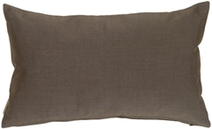 Sunbrella Coal Black 12x20 Outdoor Pillow