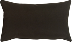 Sunbrella Black 12x20 Outdoor Pillow