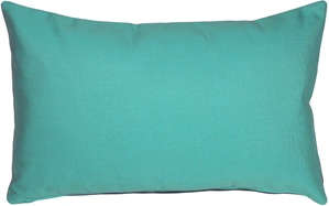 Sunbrella Aruba Turquoise 12x20 Outdoor Pillow