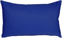 Sunbrella True Blue 12x20 Outdoor Pillow