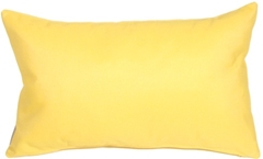 Sunbrella Buttercup Yellow 12x20 Outdoor Pillow
