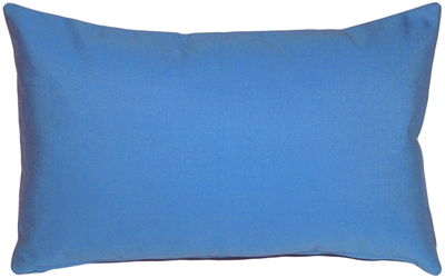 Sunbrella Capri Blue 12x20 Outdoor Pillow