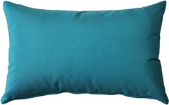 Sunbrella Peacock Outdoor Pillow 12x20