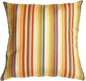Sunbrella Castanet Beach Stripes Outdoor Pillow