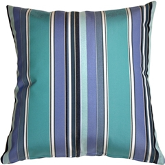 Sunbrella Dolce Oasis Stripes Outdoor Pillow
