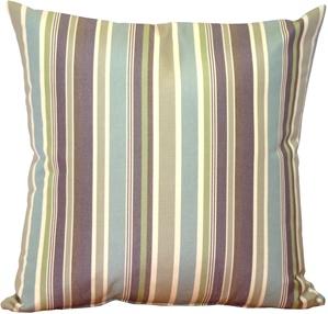 Sunbrella Brannon Whisper Stripes Outdoor Pillow
