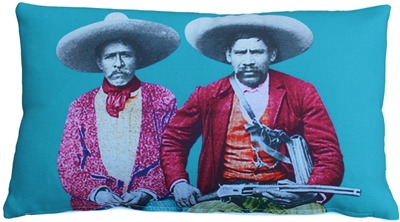 Dos Banditos Throw Pillow 12X20