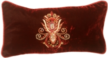 Asher Cut Diamond Burgundy Velvet Pillow