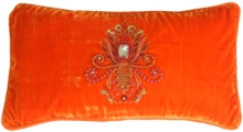 Asher Cut Diamond Orange Pillow