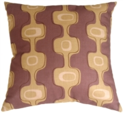 Modern Geometry II Mauve Throw Pillow