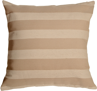 Brackendale Stripes Cream Throw Pillow