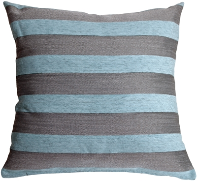 Brackendale Stripes Sea Blue Throw Pillow