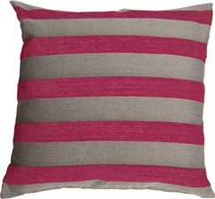 Brackendale Stripes Pink Throw Pillow