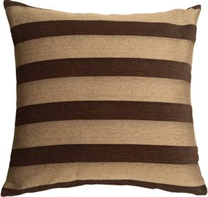 Brackendale Stripes Brown Throw Pillow