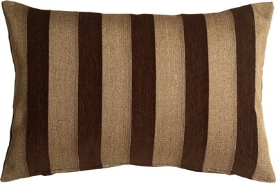Brackendale Stripes Brown Rectangular Throw Pillow