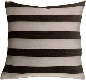 Brackendale Stripes Black Throw Pillow