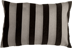 Brackendale Stripes Black Rectangular Throw Pillow