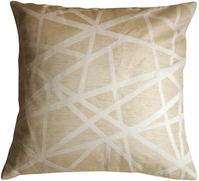 Criss Cross Stripes Cream Throw Pillow