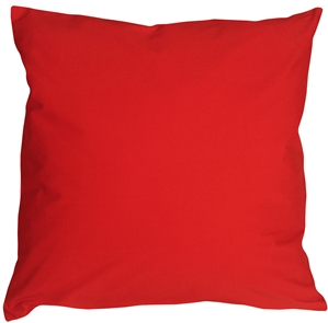 Caravan Cotton Red 18x18 Throw Pillow