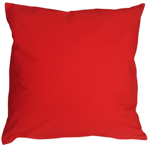Caravan Cotton Red 23x23 Throw Pillow
