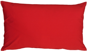 Caravan Cotton Red 12x20 Throw Pillow