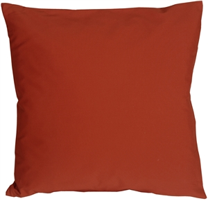 Caravan Cotton Rust 23x23 Throw Pillow
