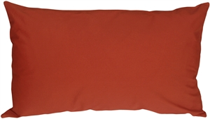 Caravan Cotton Orange Rust 2x20 Throw Pillow