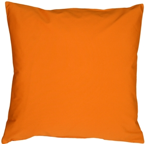 Caravan Cotton Orange 18x18 Throw Pillow
