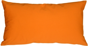 Caravan Cotton Orange 9x18 Throw Pillow