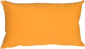 Caravan Cotton Amber Yellow 12x20 Throw Pillow