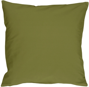 Caravan Cotton Olive Green 20x20 Throw Pillow