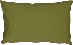 Caravan Cotton Olive Green 12x20 Throw Pillow