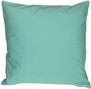 Caravan Cotton Turquoise 16x16 Throw Pillow