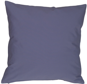 Caravan Cotton Denim Blue 16x16 Throw Pillow