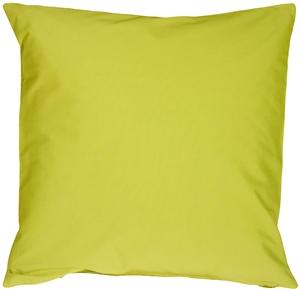 Caravan Cotton Lime Green 23x23 Throw Pillow