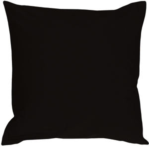 Caravan Cotton Black 16x16 Throw Pillow