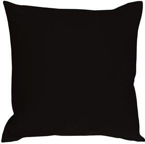 Caravan Cotton Black 18x18 Throw Pillow