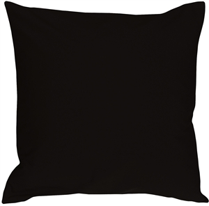 Caravan Cotton Black 23x23 Throw Pillow