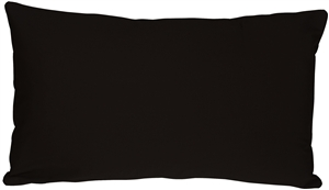 Caravan Cotton Black 12x20 Throw Pillow
