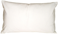 Caravan Cotton White 12x20 Throw Pillow