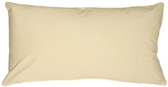 Caravan Cotton Cream 9x18 Throw Pillow