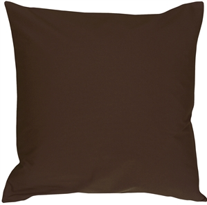 Caravan Cotton Brown 18x18 Throw Pillow