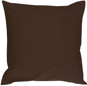 Caravan Cotton Brown 20x20 Throw Pillow