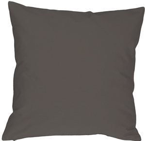 Caravan Cotton Dark Gray 18x18 Throw Pillow