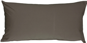 Caravan Cotton Dark Gray 9x18 Throw Pillow