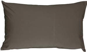 Caravan Cotton Dark Gray 12x20 Throw Pillow
