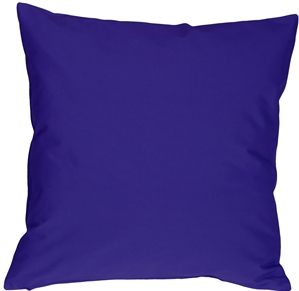 Caravan Cotton Royal Blue 18x18 Throw Pillow