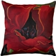 Red Poppy 20x20 Throw Pillow